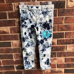 NEW Jordache Crop Jeggings Blue Tye Dye Girl 10-12